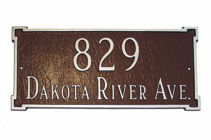 Petite New Yorker Rectangle Address Sign