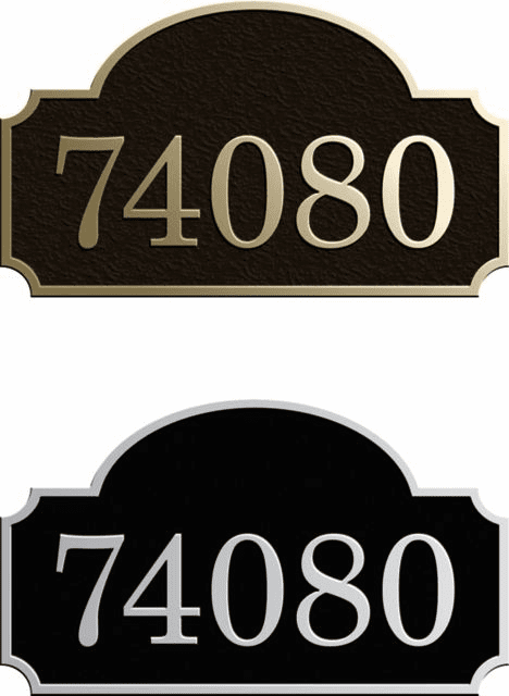 Petite Rounded Inset Address Plaque