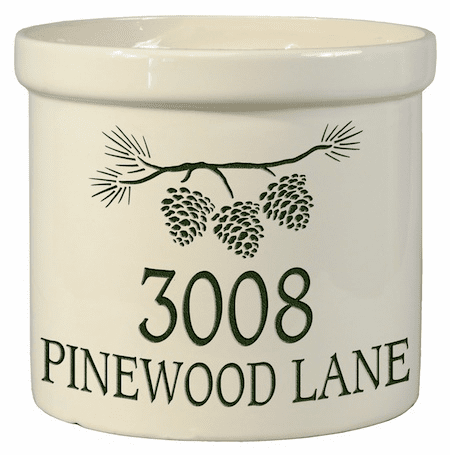 Pine Bough Address 2 Gallon Crock