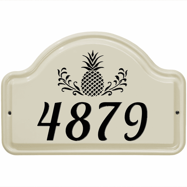 Pineapple Arch Standard Ceramic Address Plaque