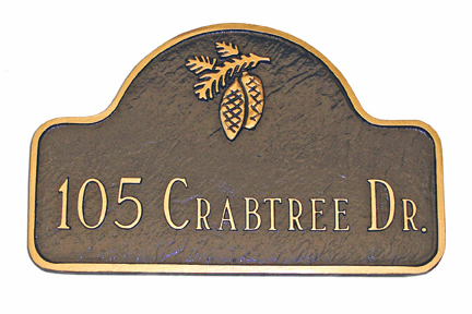 Pinecone Arch Address Marker