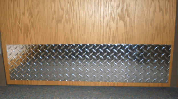 Polished Aluminum Diamond Plate Door Kick Plate