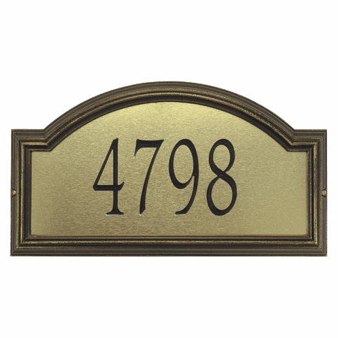 Providence Estate Artisan Metal Address Plaque