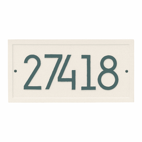 Rectangle Modern Wall Address Number Plaque