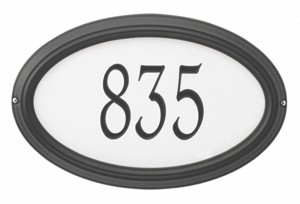 Reflective Concord Address Sign