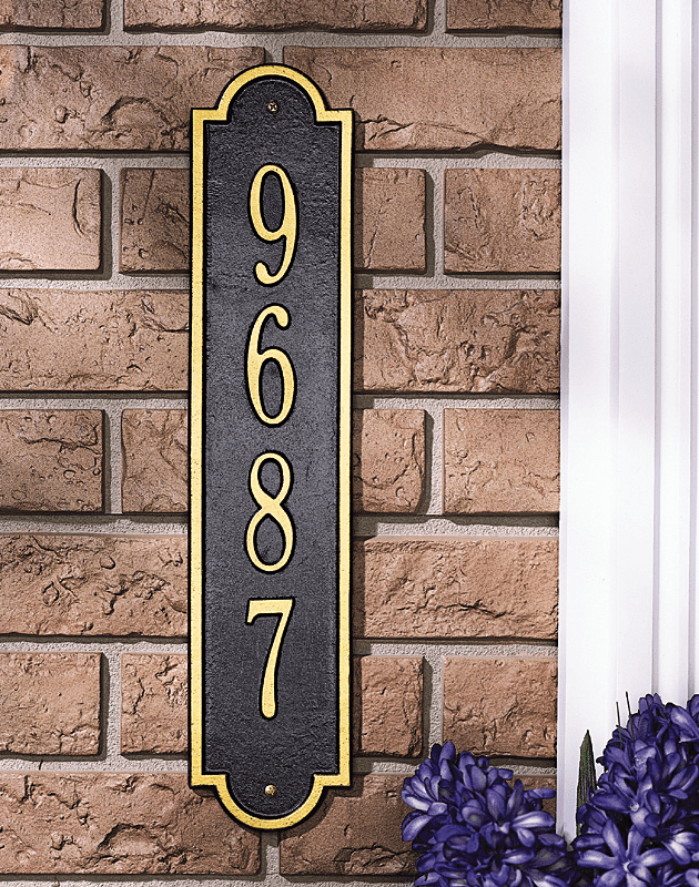 Richmond Standard Vertical Address Plaque
