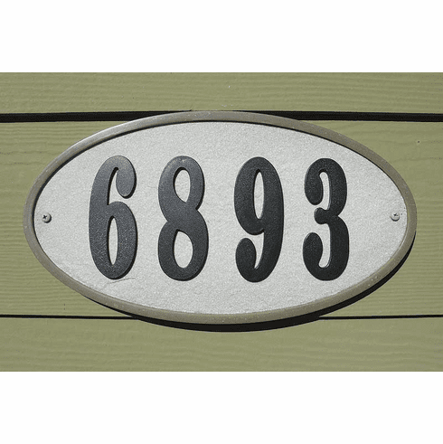 RidgeStone Oval Address Plaque