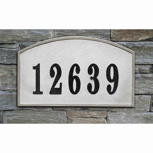 Riviera Arch Crushed Stone Address Plaque
