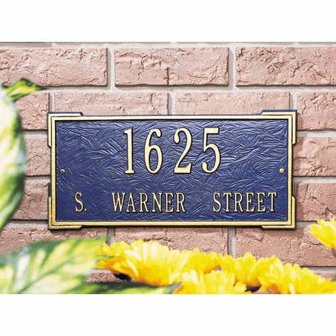 Roanoke Estate Address Plaque