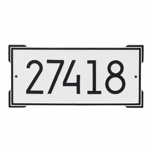 Roanoke Modern Rectangle Wall Number Address Plaque