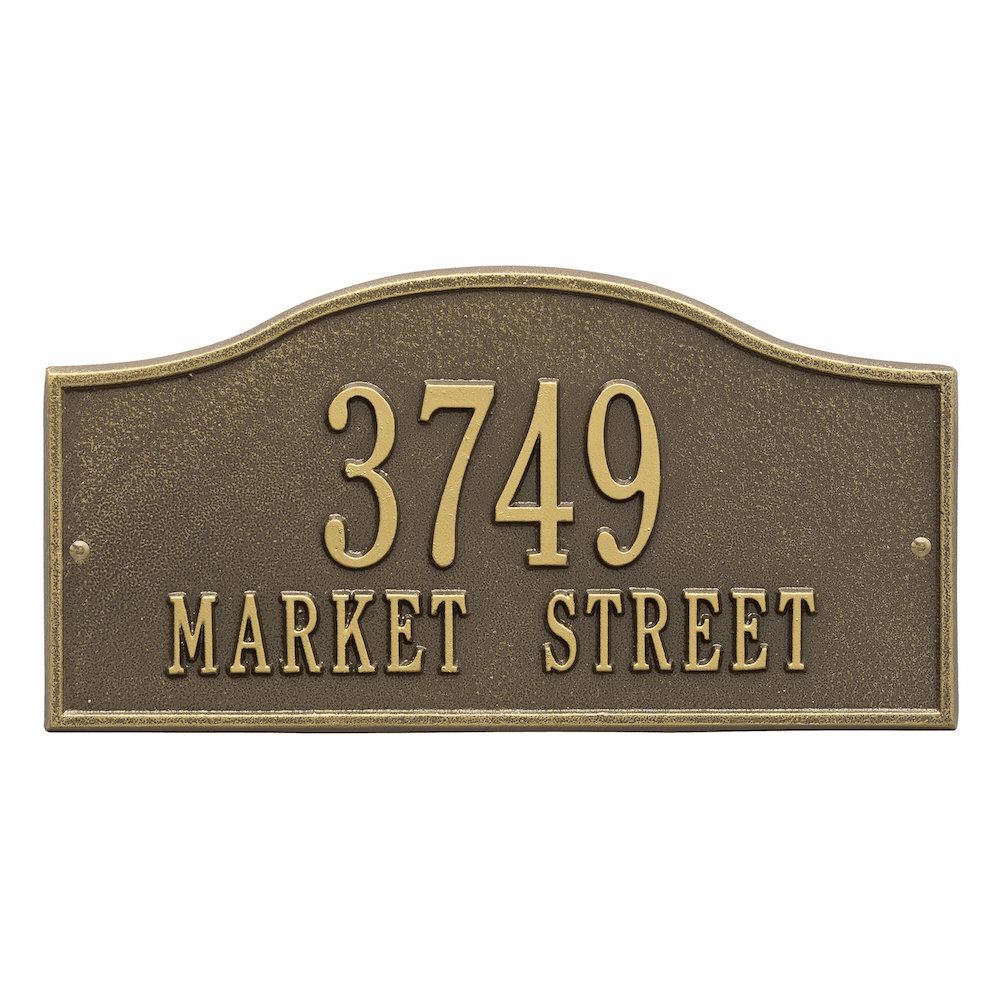 Rolling Hills Standard Arch Two Line Address Sign