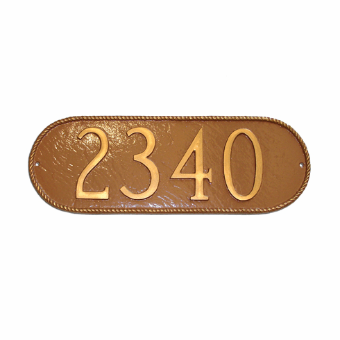 Rope Oblong Address Plaque