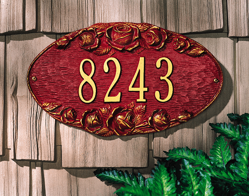 Rose Oval Wall Plaque