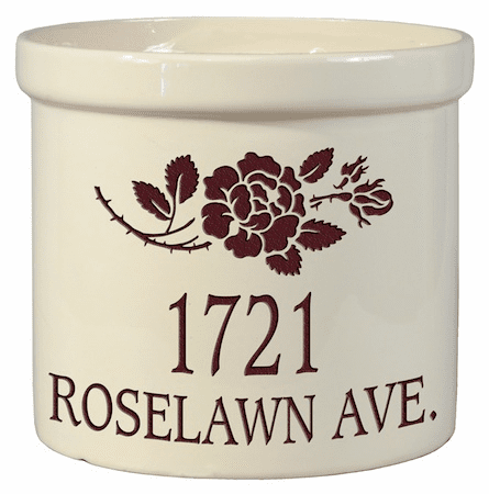 Rose Stem Address 2 Gallon Crock