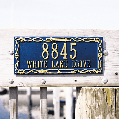 Sailor's Knot Address Sign