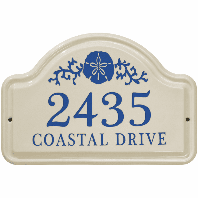 Sand Dollar Arch Ceramic Wall Address Plaque