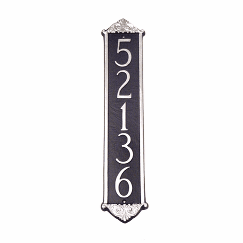 Scroll Column Vertical Address Plaque