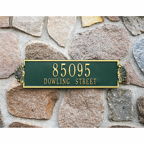 Shell Horizontal - Estate Wall Address Plaque