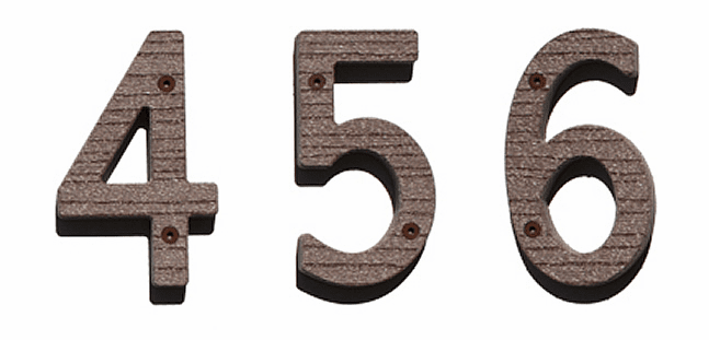 Six Inch Wooden House Numbers