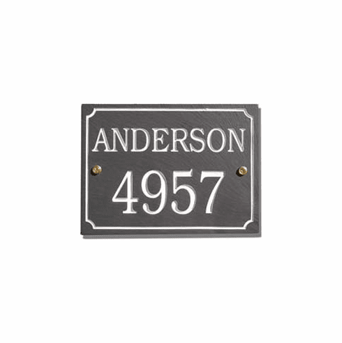 Slate Address Sign - 2 Line Rectangle