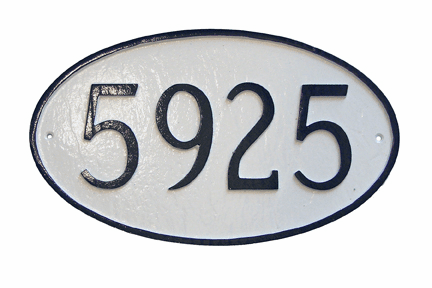 Small Oval Address Plaque