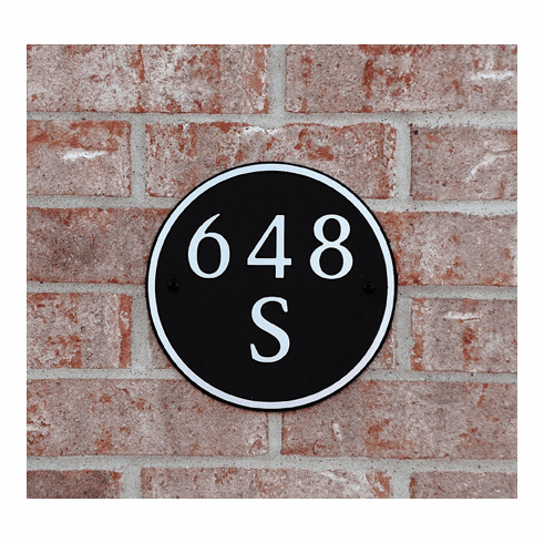 Small Round Composite Plastic Address Plaque