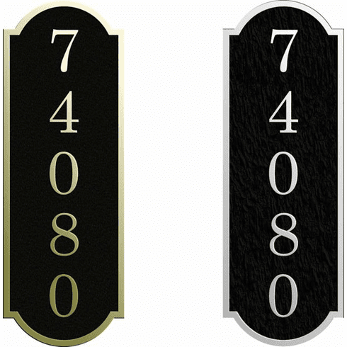 Small Vertical Narrow Arch Address Sign