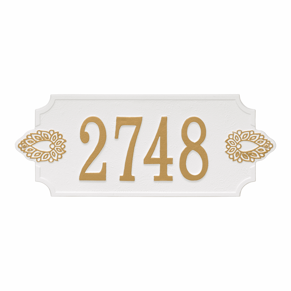 Sofia Cut Corner House Number Plaque