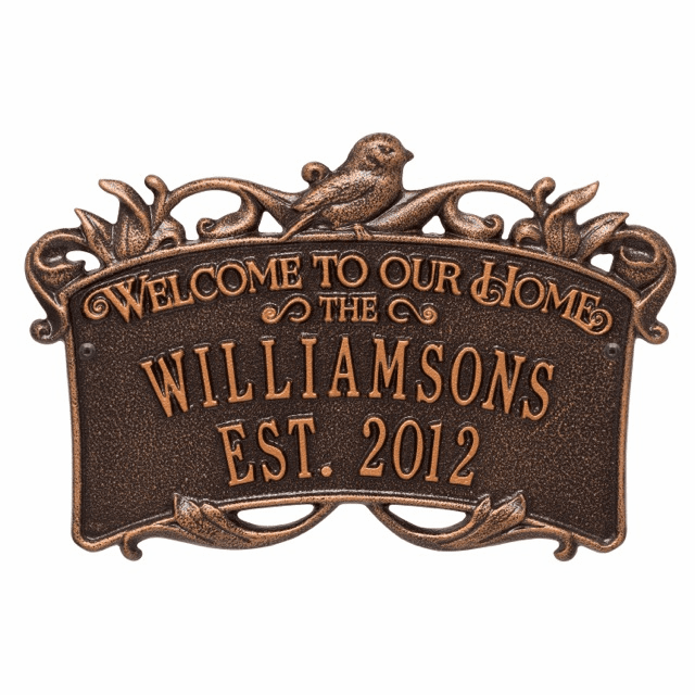 Songbird Welcome Personalized Anniversary Wedding Sign
