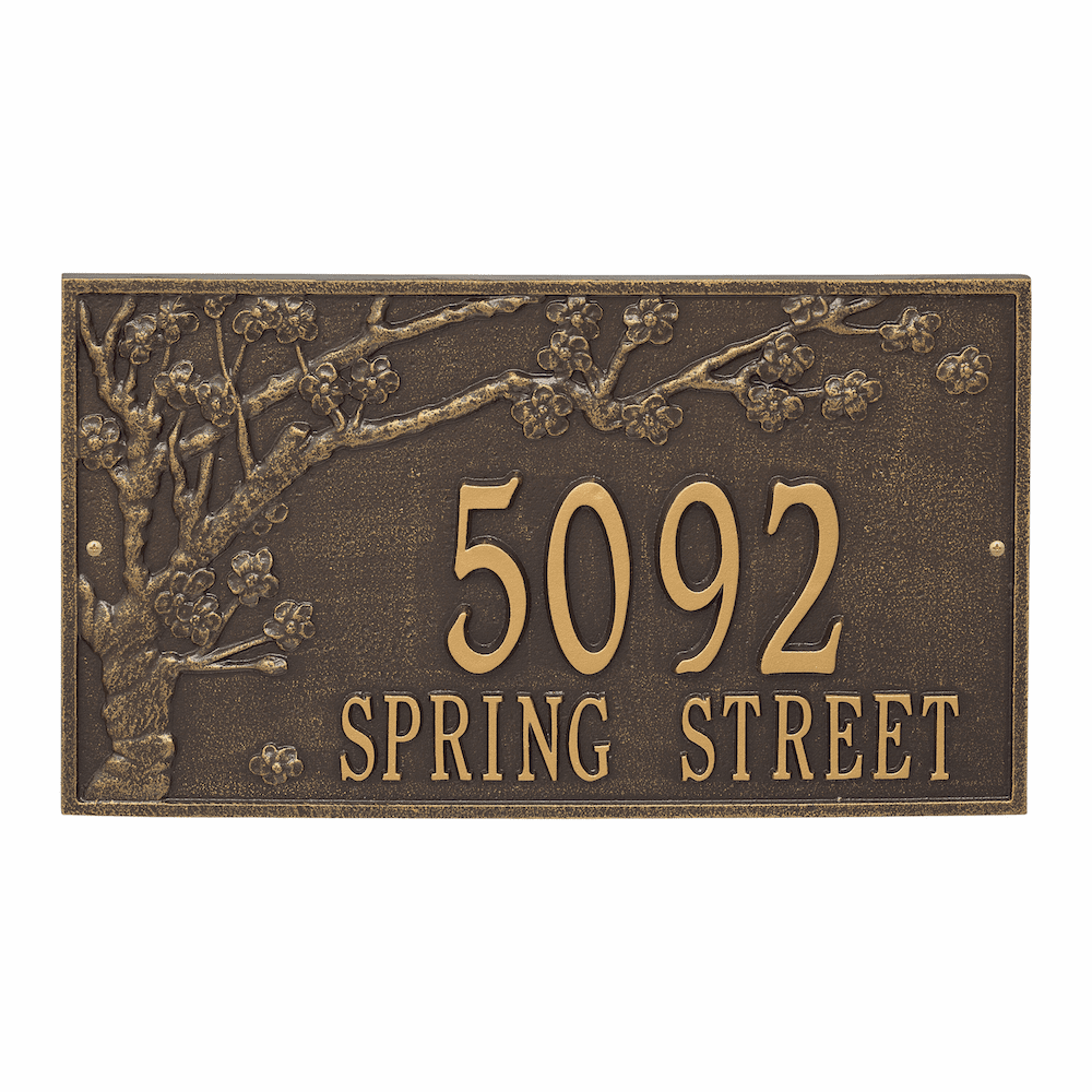 Spring Blossom Estate Wall Address Plaque
