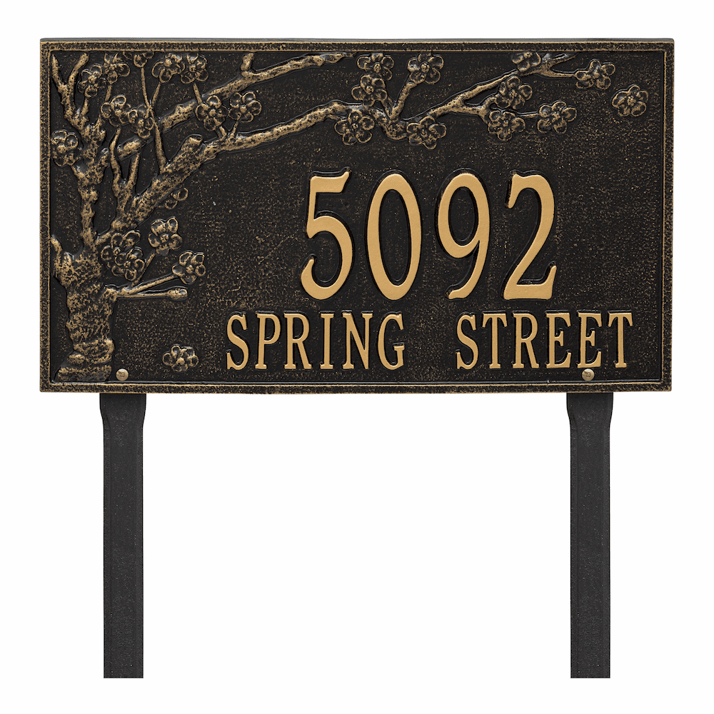 Spring Blossom Lawn Address Marker