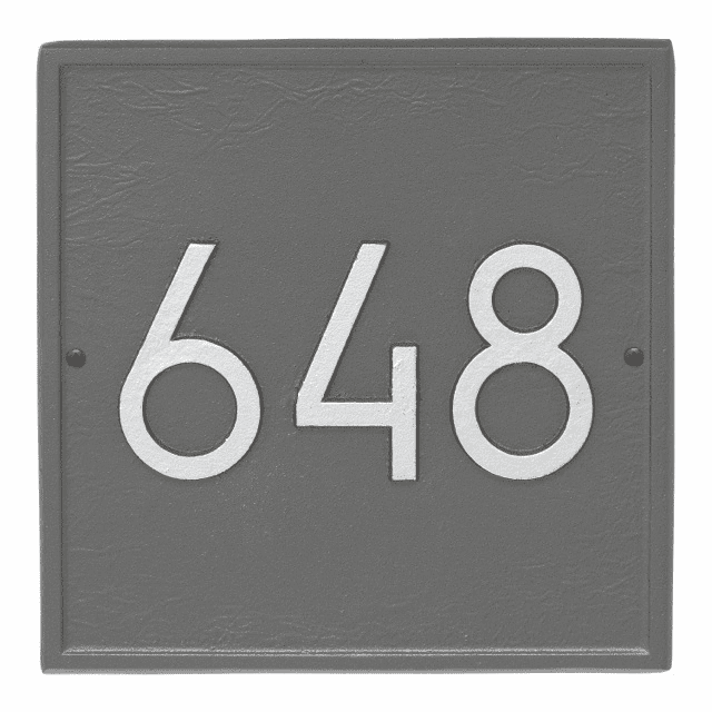 Square Modern Wall Address Number Plaque