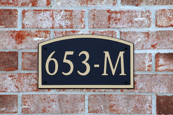 Standard Arch Composite Plastic Address Plaque