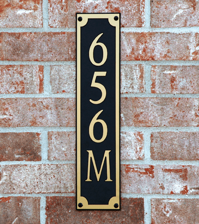 Standard Classic Horizontal Composite Plastic Address Plaque
