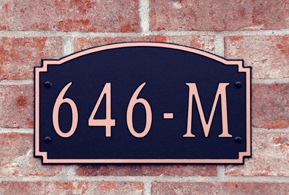 Standard Designer Arch Composite Plastic Address Plaque