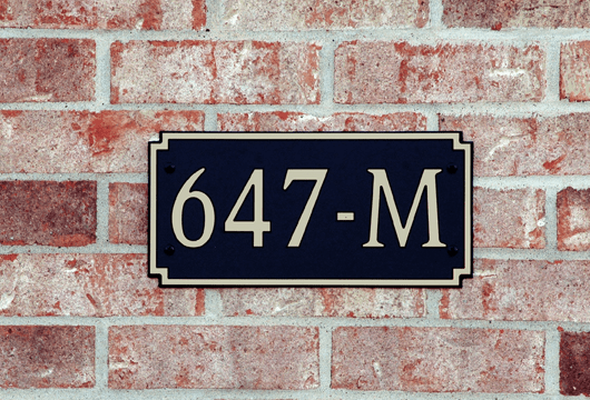 Standard Designer Rectangle Composite Plastic Address Plaque
