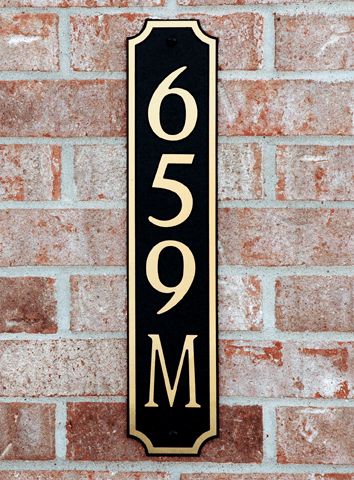 Standard Horizontal Decorative Composite Plastic Address Plaque