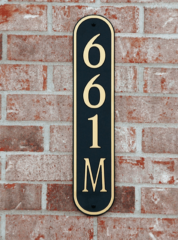 Standard Horizontal Oval Composite Plastic Address Plaque