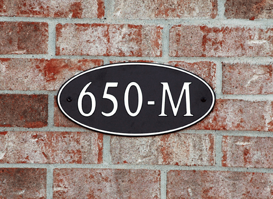 Standard Long Oval Composite Plastic Address Plaque