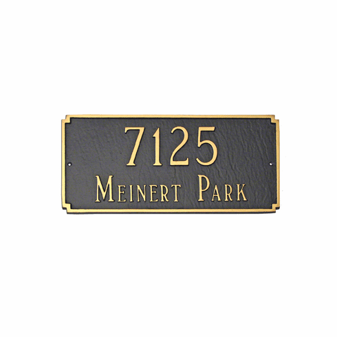 Standard Madison Rectangle Address Plaque