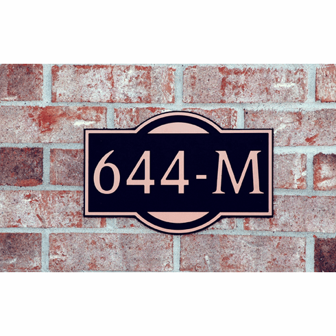 Standard Modern Composite Plastic Address Plaque