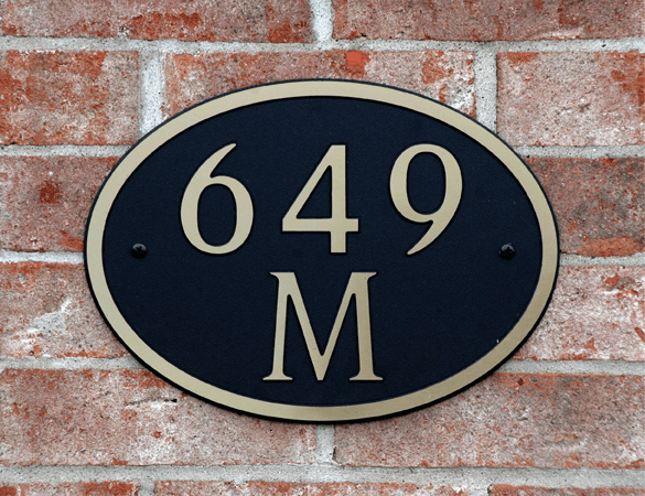 Standard Oval Composite Plastic Address Plaque