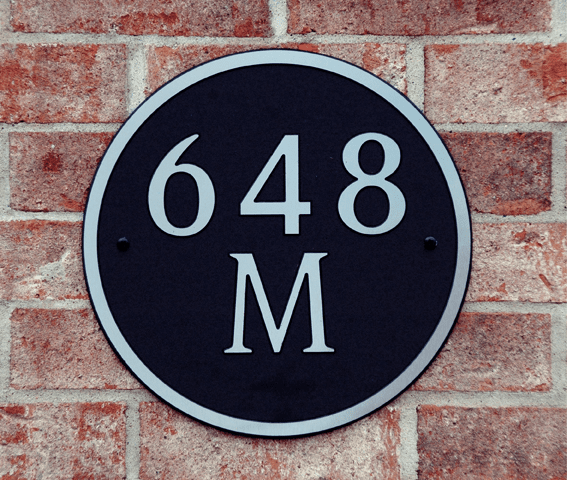 Standard Round Composite Plastic Address Plaque
