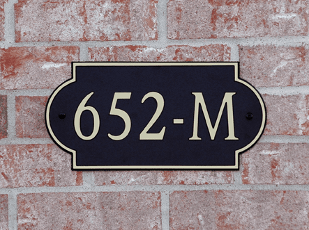 Standard Side Arch Composite Plastic Address Plaque