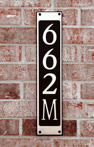 Standard Simple Horizontal Composite Plastic Address Plaque