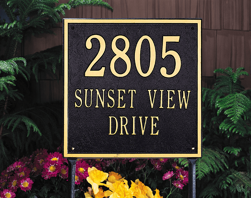 Standard Square Wall Address Plaque