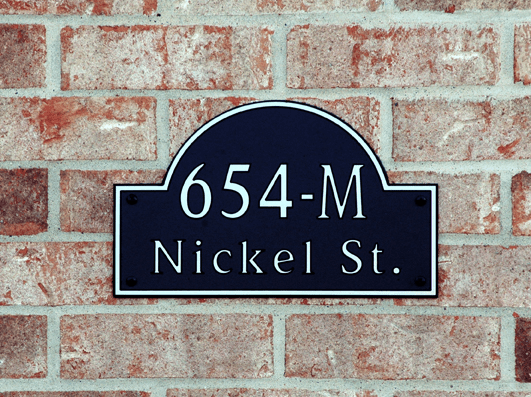 Standard Traditional Arch Composite Plastic Address Plaque