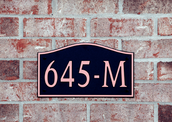 Standard Wave Compostite Plastic Address Plaque