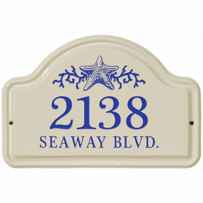 Star Fish Arch Ceramic Wall Address Plaque