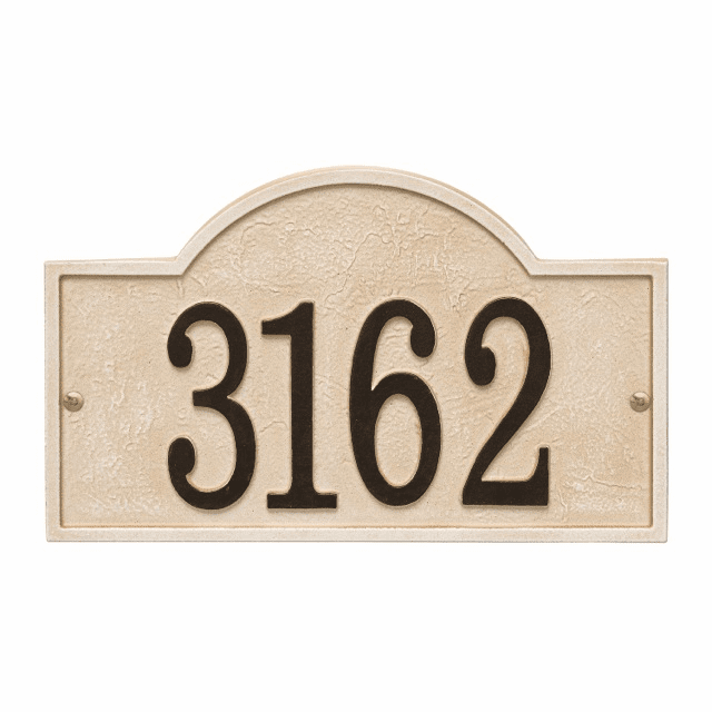 Stonework Arch House Number Wall Plaque